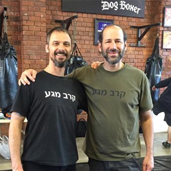Tony Hardy with International Head Instructor Moshe Katz
